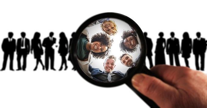 pessoas vistas de perto funcionarios e empregadores